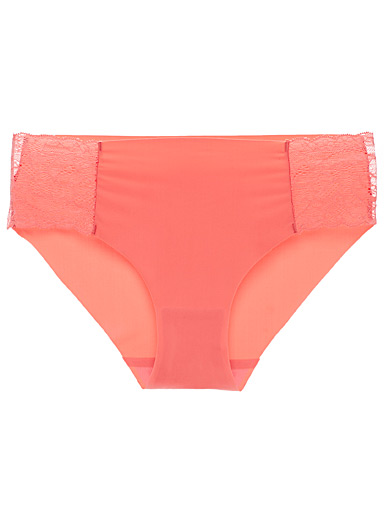 Miiyu Coral Colourful lace-accent hipster for women