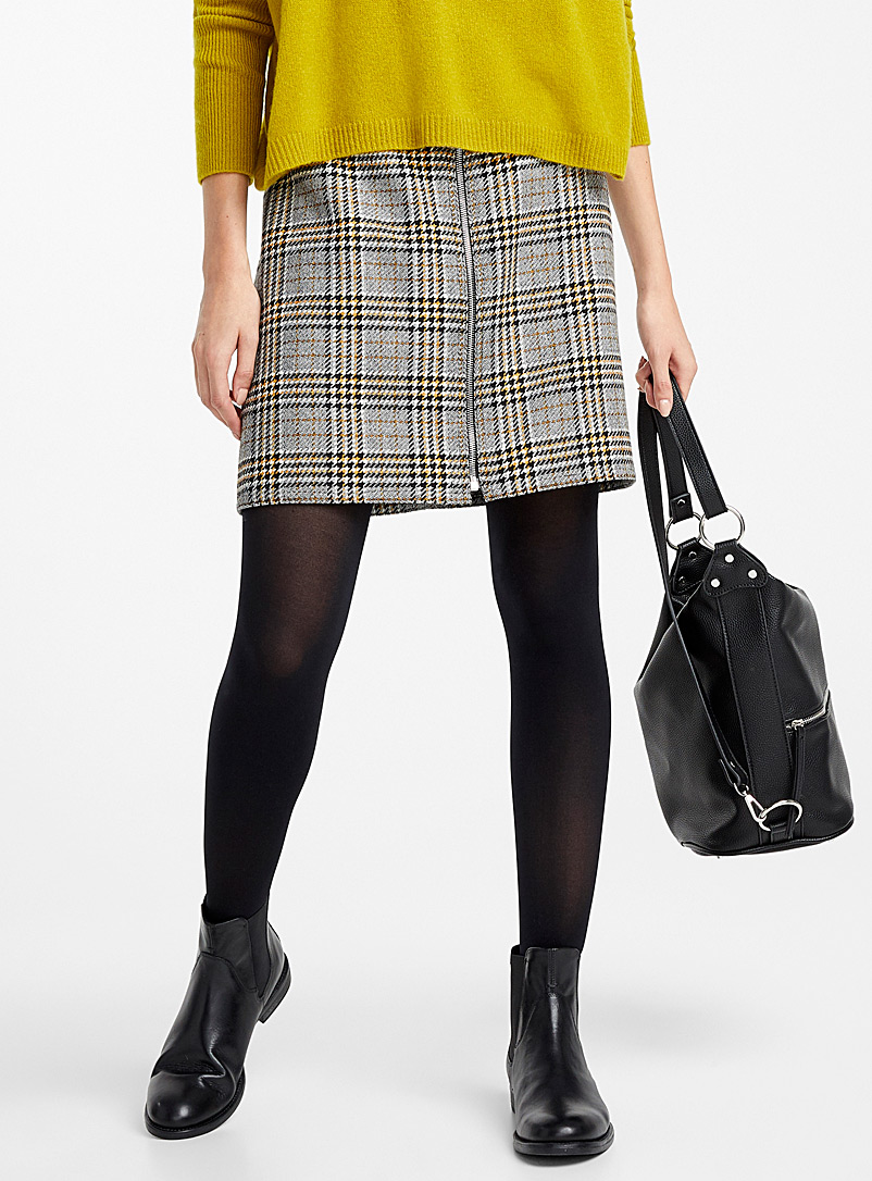 Simons Brown 3D microfibre control-top tights for women