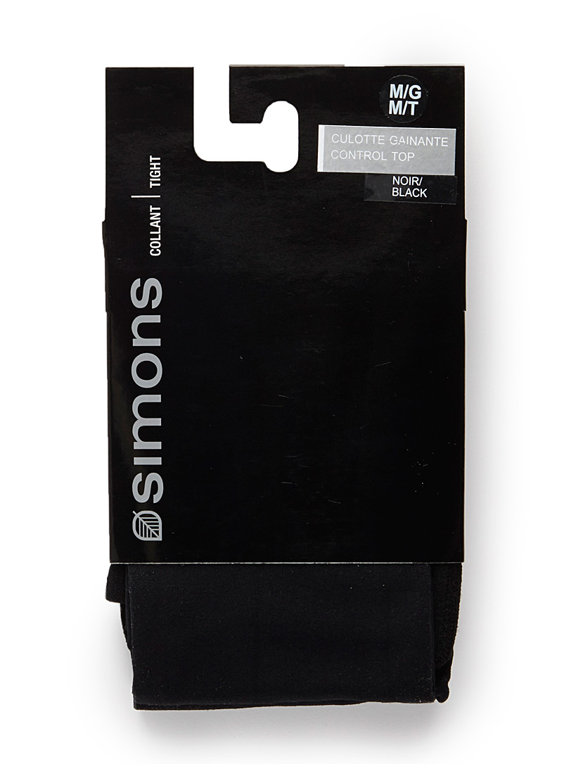 Simons Marine Blue 3D microfibre control-top tights for women