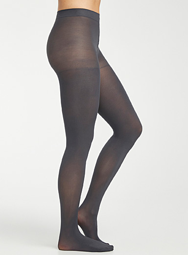 3D microfibre control-top tights