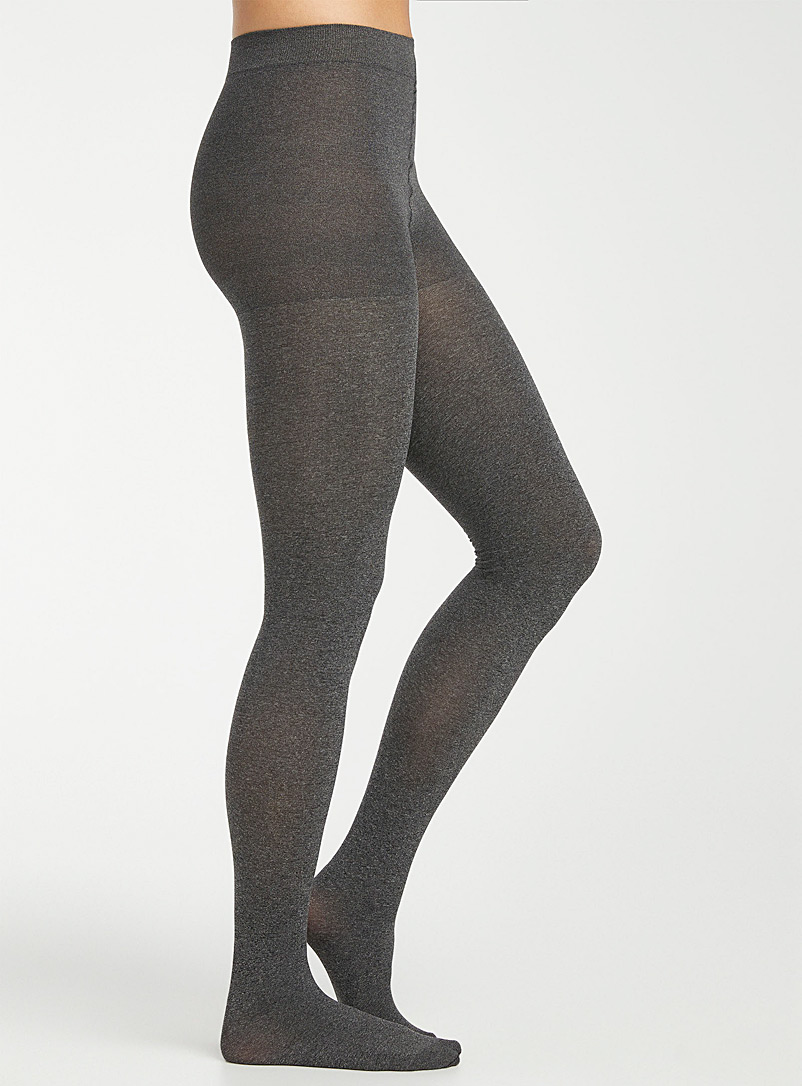 3D microfibre control-top tights - Tights - Patterned Grey