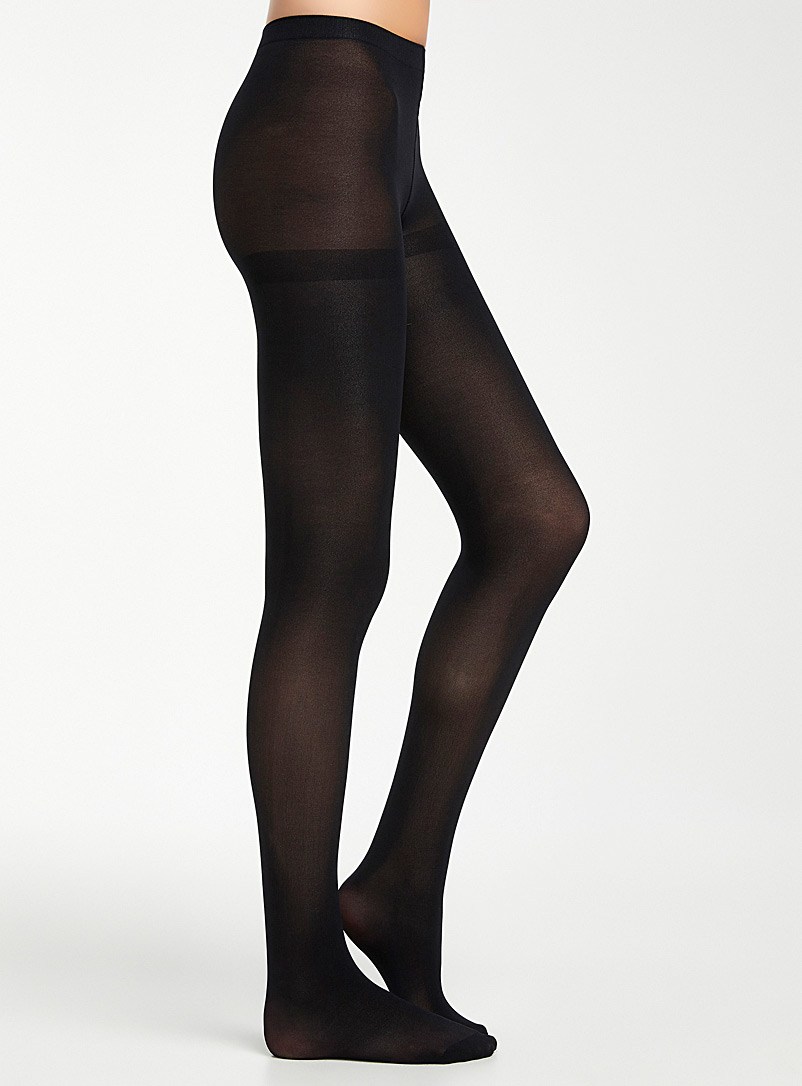 3D microfibre tights - Tights - Black