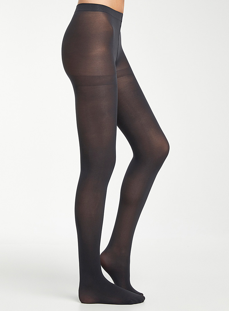 3D microfibre tights - Tights - Charcoal