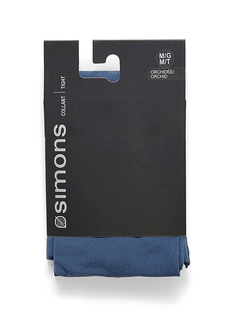 Simons White Colourful 3D microfibre tights for women