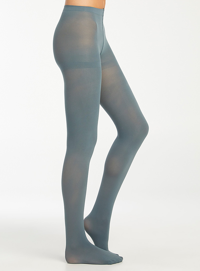 Brightly coloured 3D microfibre tights