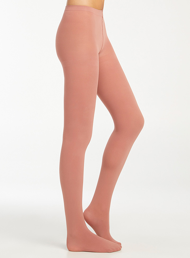 Simons Ruby Red Brightly coloured 3D microfibre tights for women