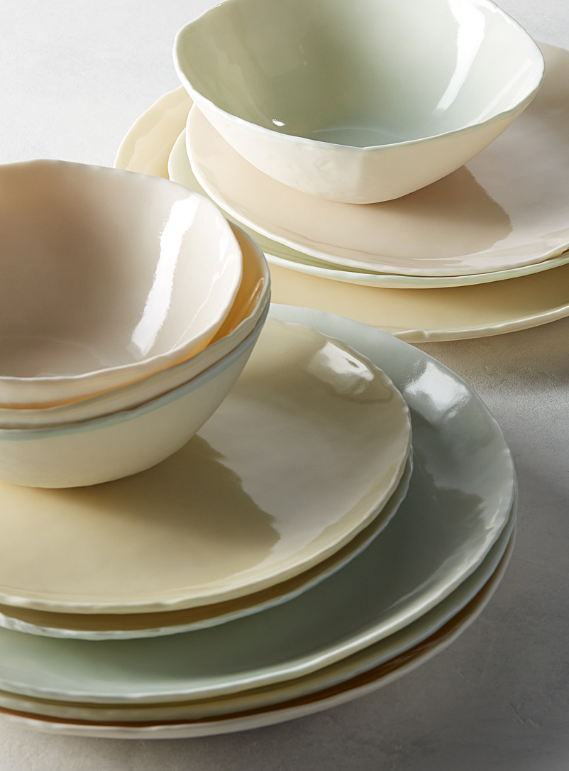 Waves dinnerware  3-piece set - Atelier Marie-Hélène Robillard - Green