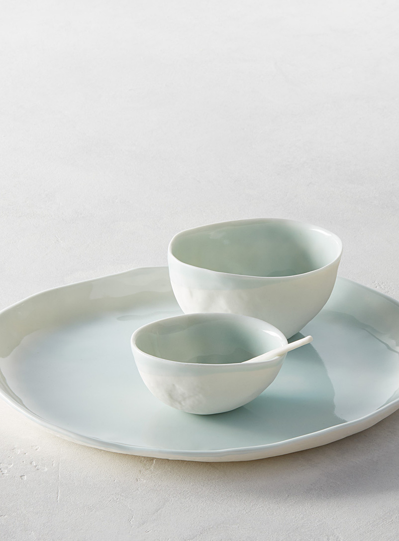 Atelier Marie-Hélène Robillard Blue Moss serving dishes  4-piece set
