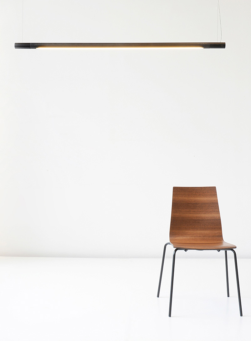 Bennington walnut hanging lamp - hollis + morris - Dark Brown