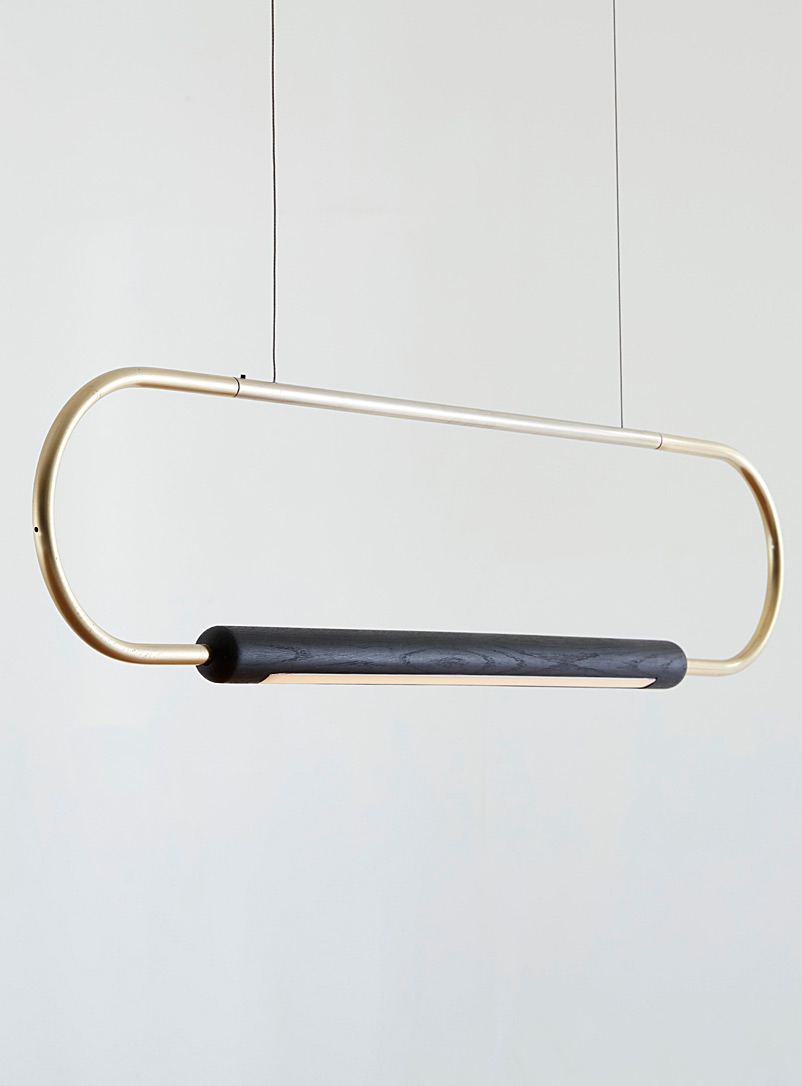 Link oak hanging lamp