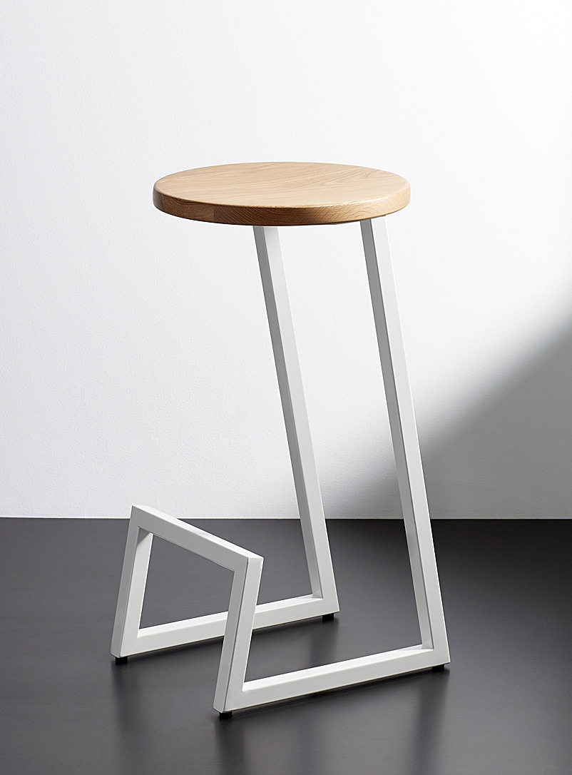 Hollis+Morris Assorted Corktown white oak counter stool