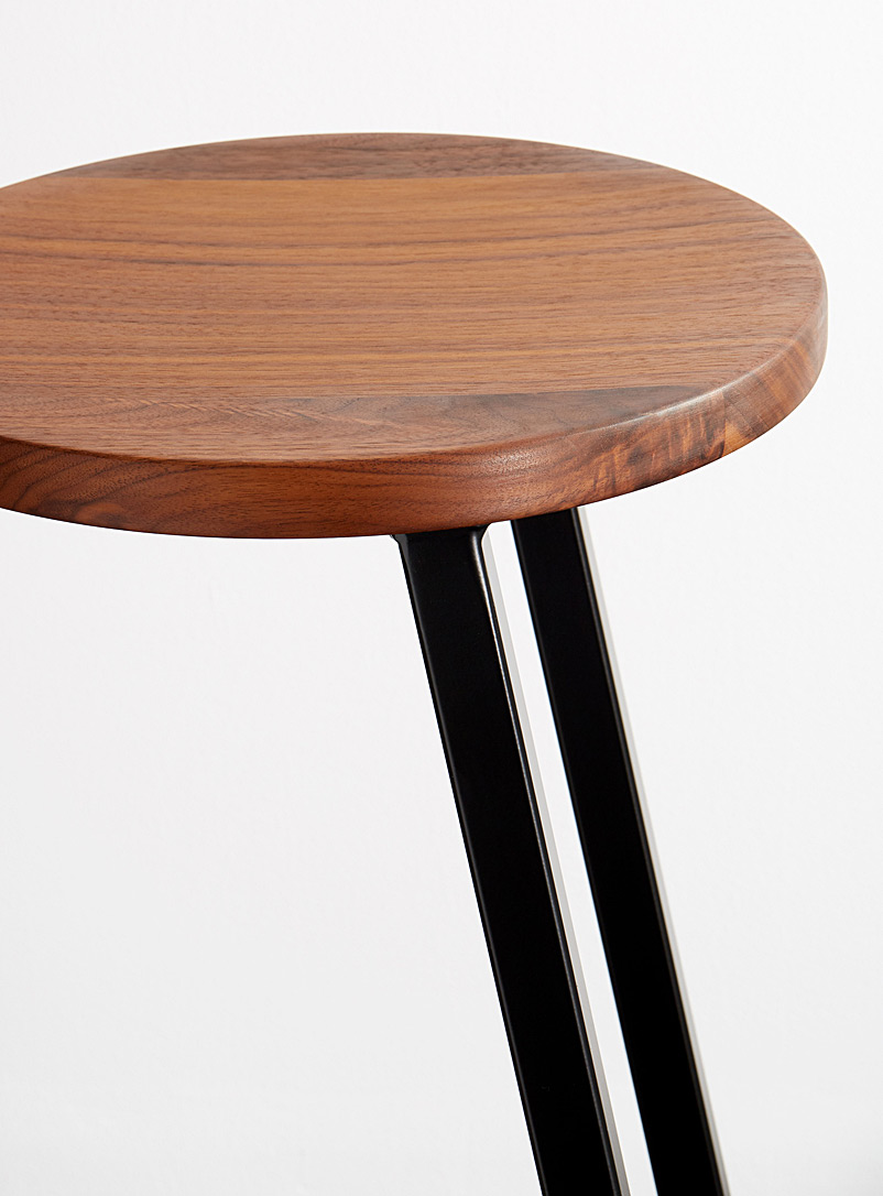 Corktown walnut bar stool - hollis + morris - Dark Brown