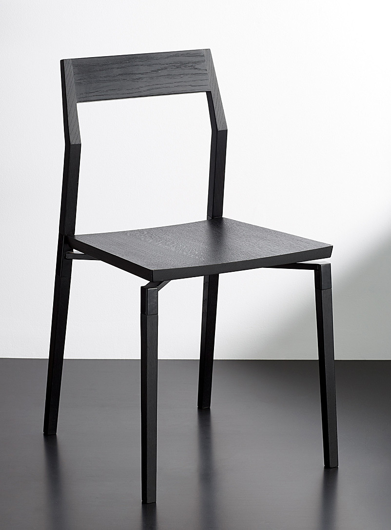 Hollis+Morris Black Parkdale oak chair
