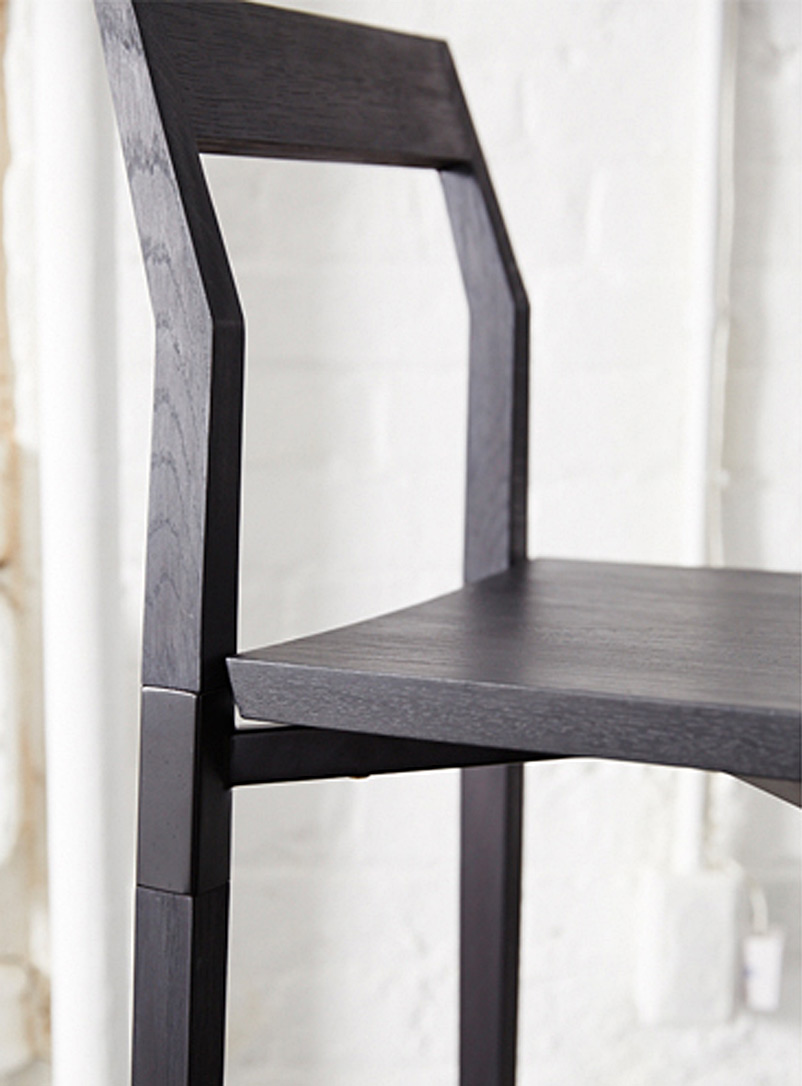 Parkdale oak counter stool - hollis + morris - Black