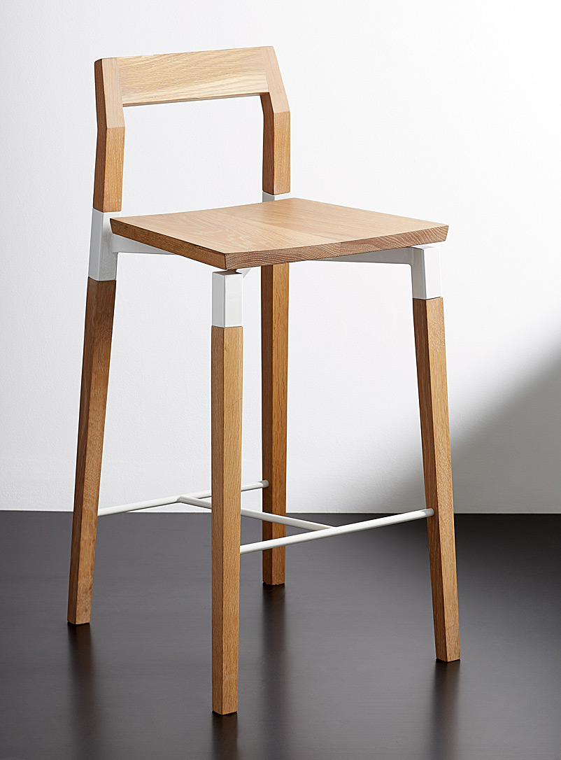 Hollis+Morris Assorted Parkdale oak counter stool