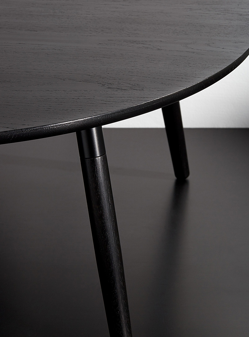 Hollis+Morris Black Crescenttown coffee table