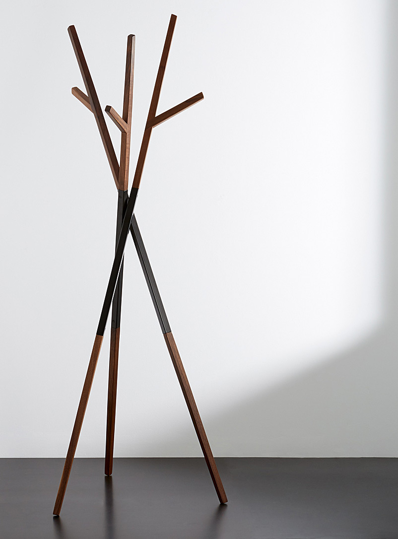 Bellwoods walnut coat rack - hollis + morris - Dark Brown