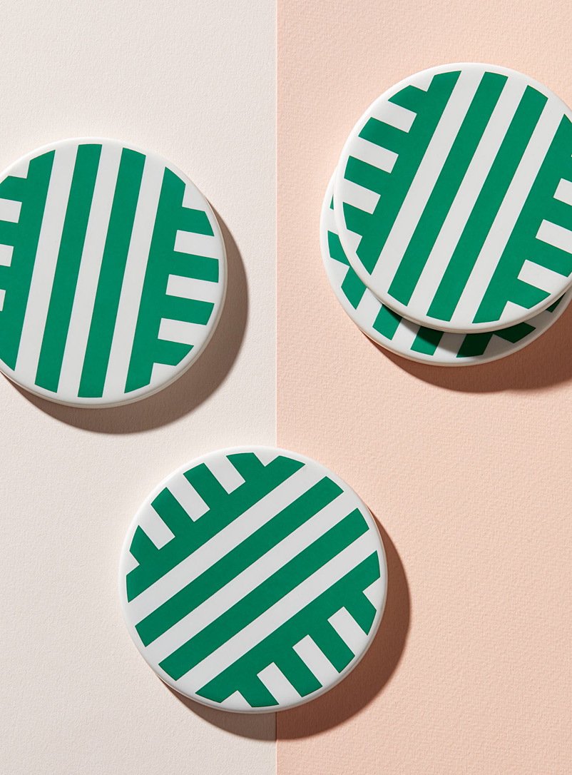 Xenia Taler Green Park porcelain coasters  Set of 4