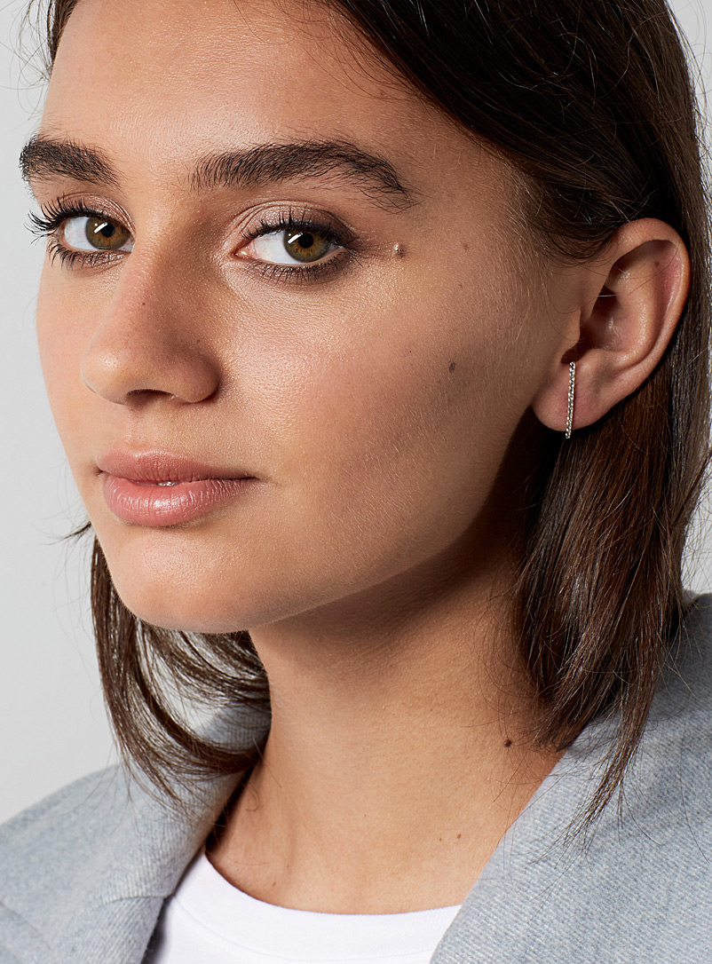 Twist stud earrings - PAR ICI Jewellery - Silver