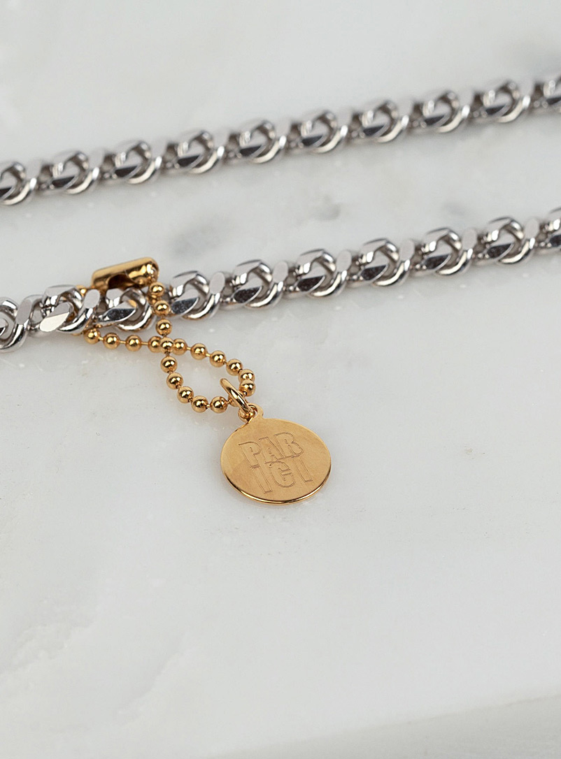 Two-tone infinity necklace - PAR ICI Jewellery - Silver