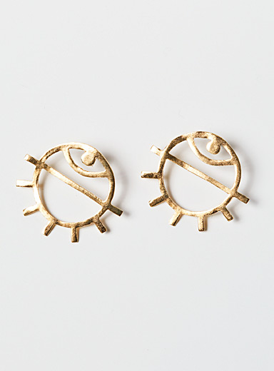 Par ici jewellery Gold Medium Eye earrings