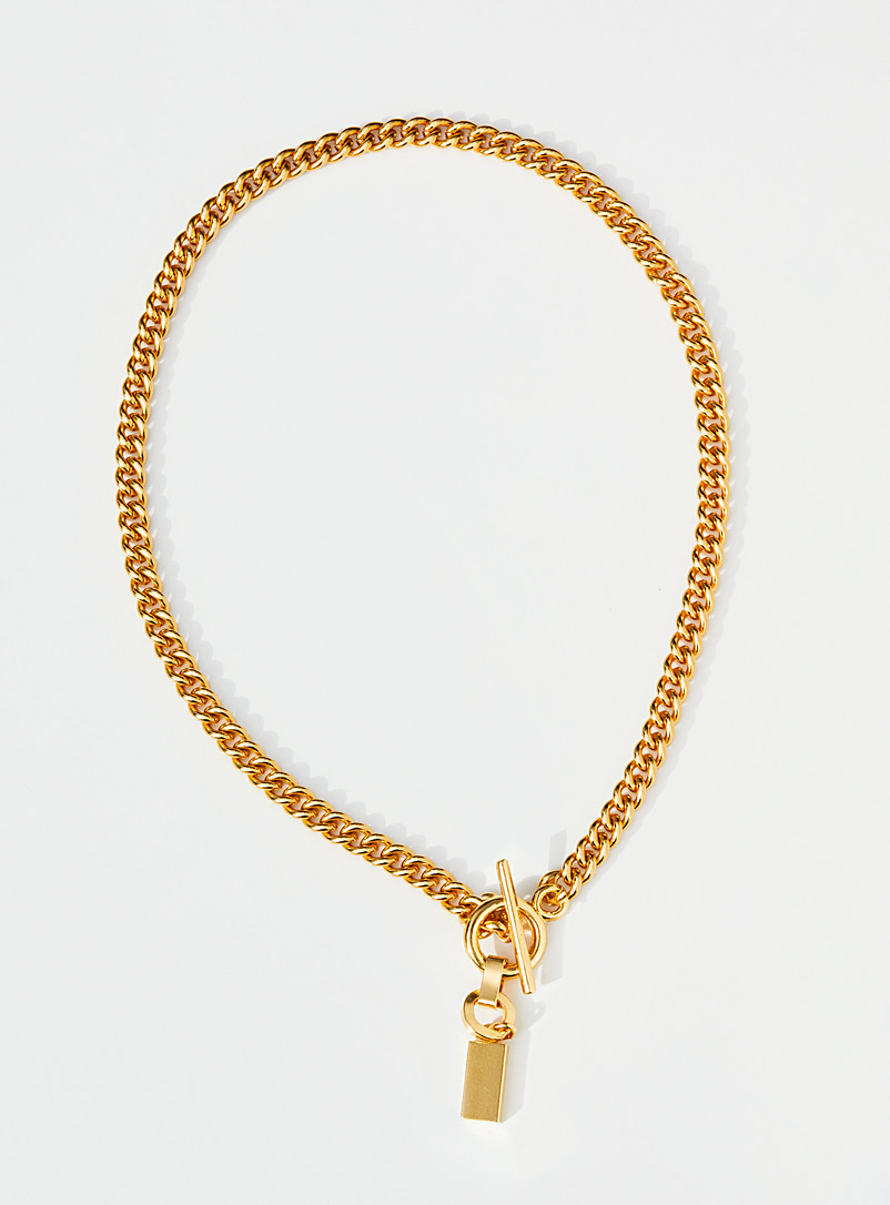 Par ici jewellery Gold Curb necklace