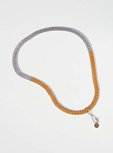 Two-tone double width chain