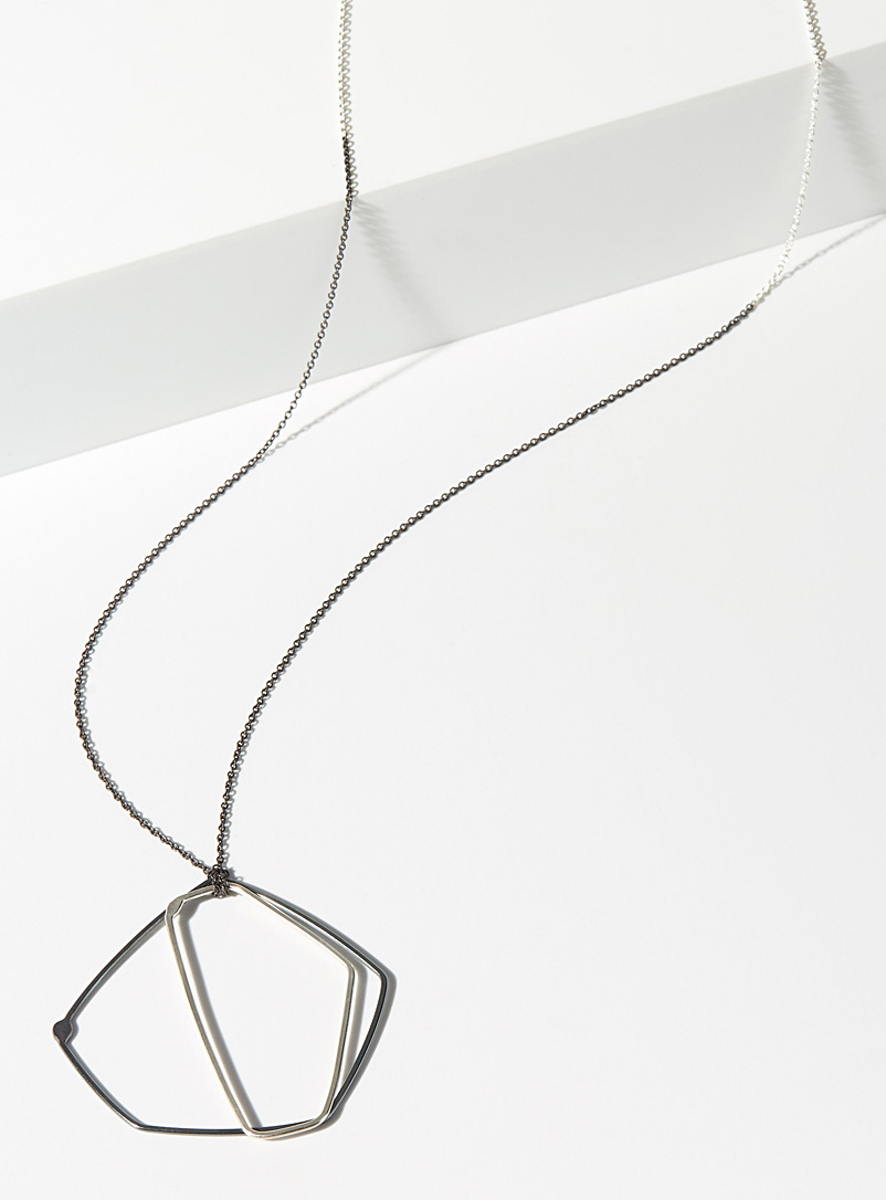 Gabrielle Desmarais Silver PSOP2 two-pendant necklace
