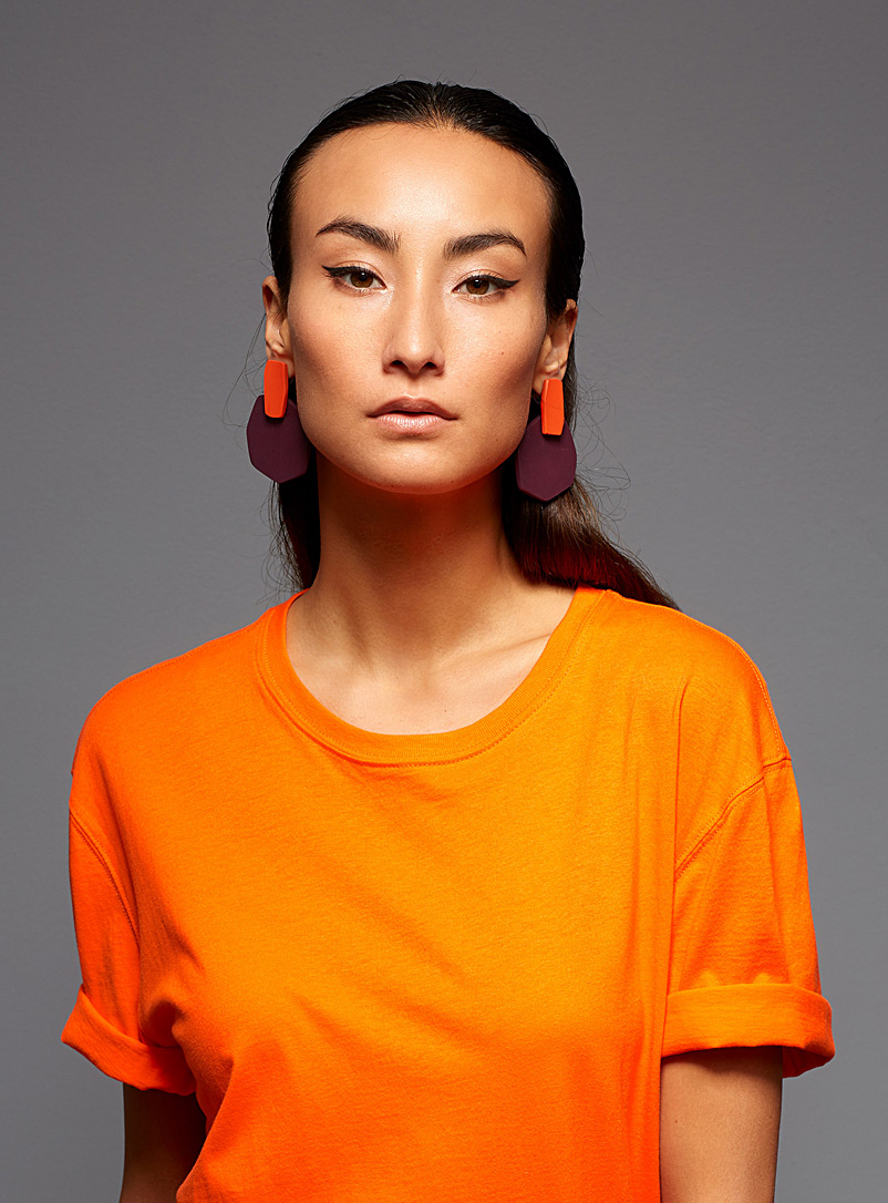 Gabrielle Desmarais Orange ACH6 earrings