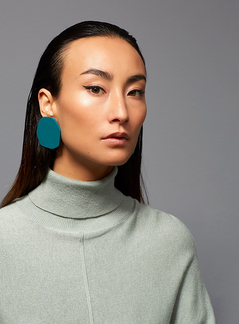 ACH7 earrings - Gabrielle Desmarais - Green