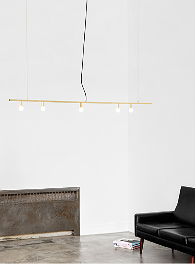 Golden Dot Line hanging lamp