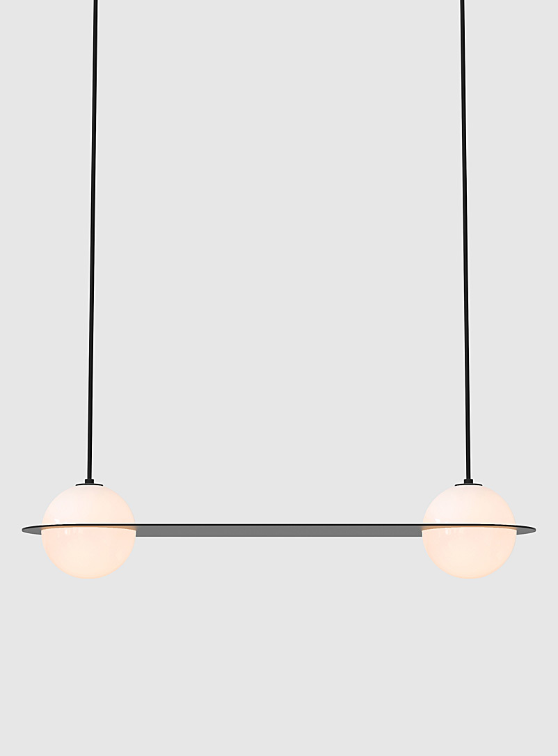 Laurent 3 black parallel hanging lamp