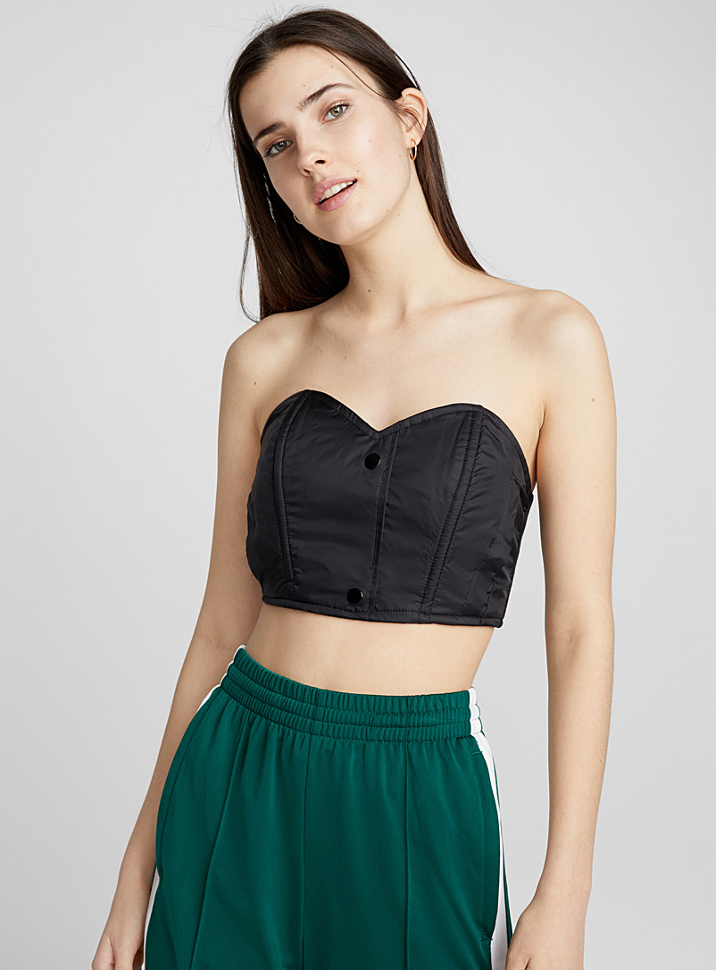 buttoned-nylon-bustier