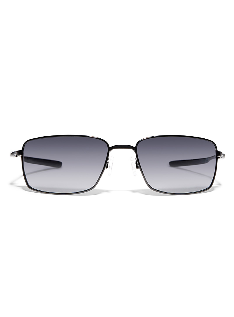 Square Wire rectangular sunglasses - Designer - Black