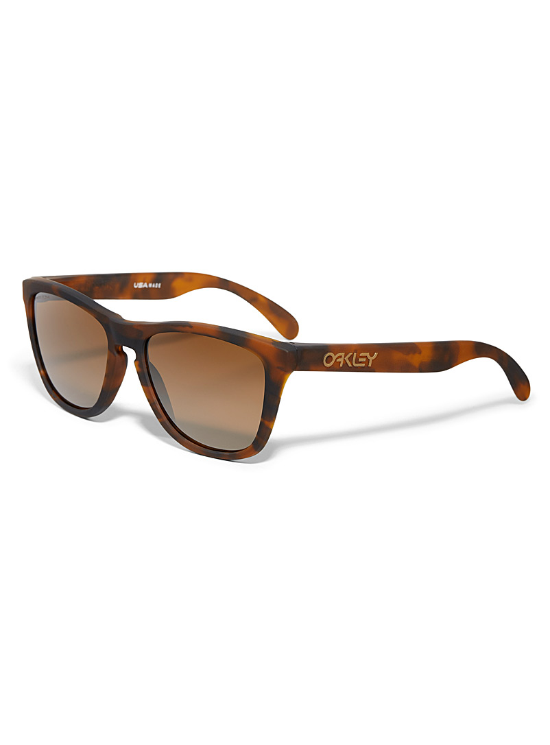 Oakley Patterned Brown Frogskins square sunglasses for men