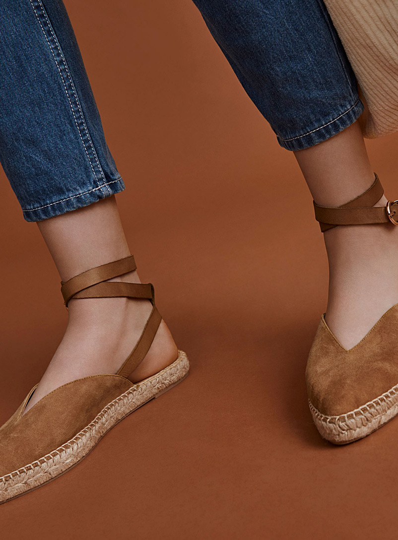 Point espadrilles - Flats - Fawn