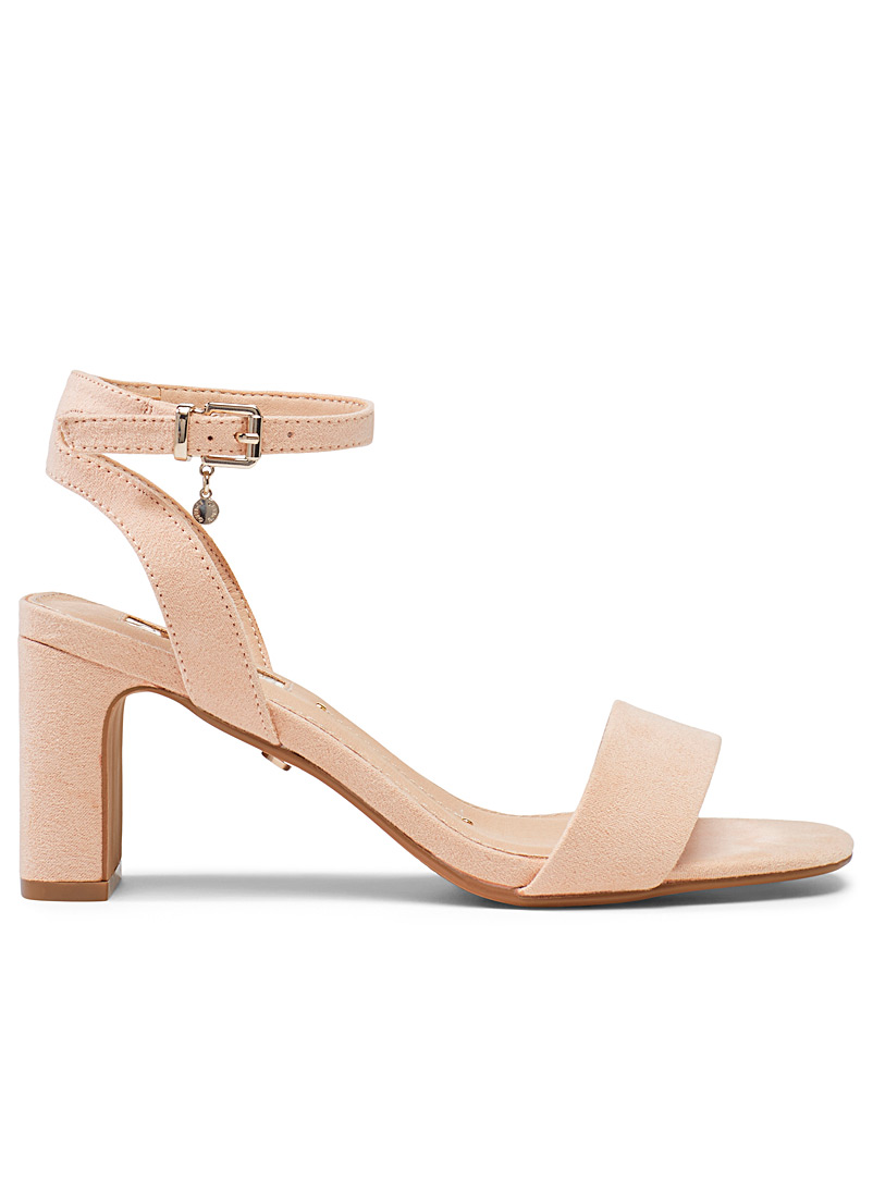 Office Dusky Pink Makeover heeled sandals for women