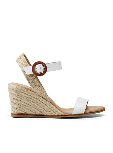 Office White Mane heeled sandals for women