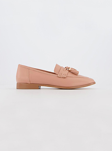 Office Tan Tassel leather loafers for women