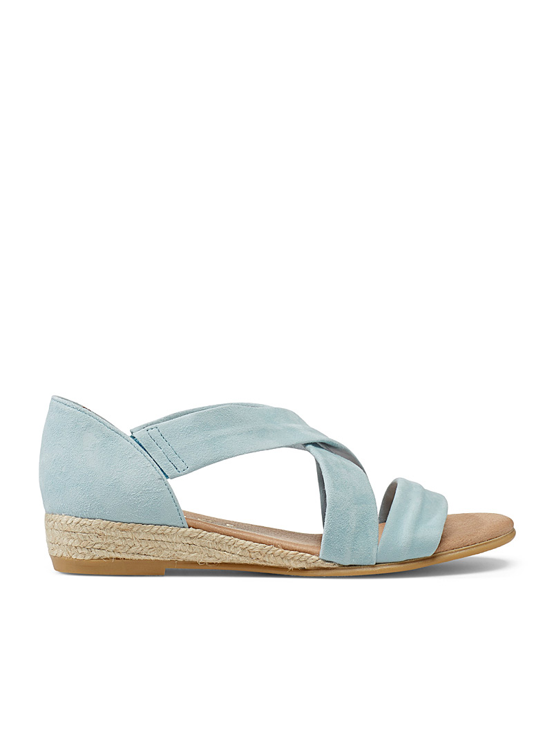 Office Baby Blue Hallie espadrille sandals for women