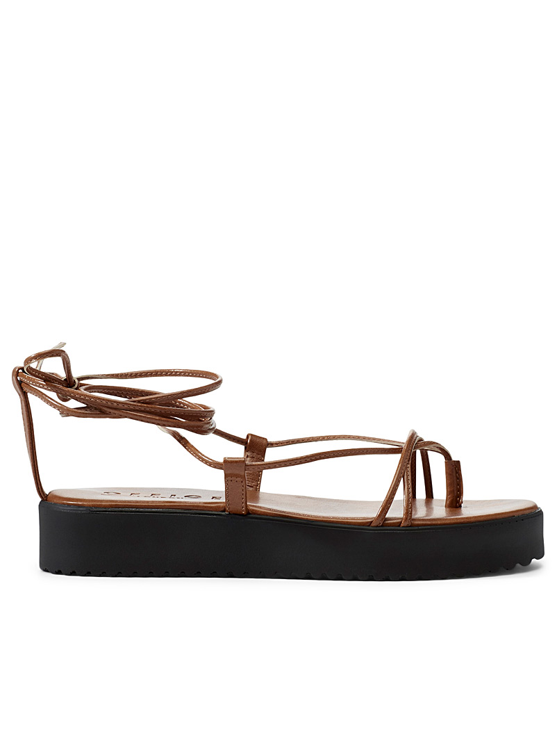 Office Fawn Fine strap platform sandals for women