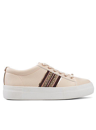 Office Tan Freestyle cream sneakers for women