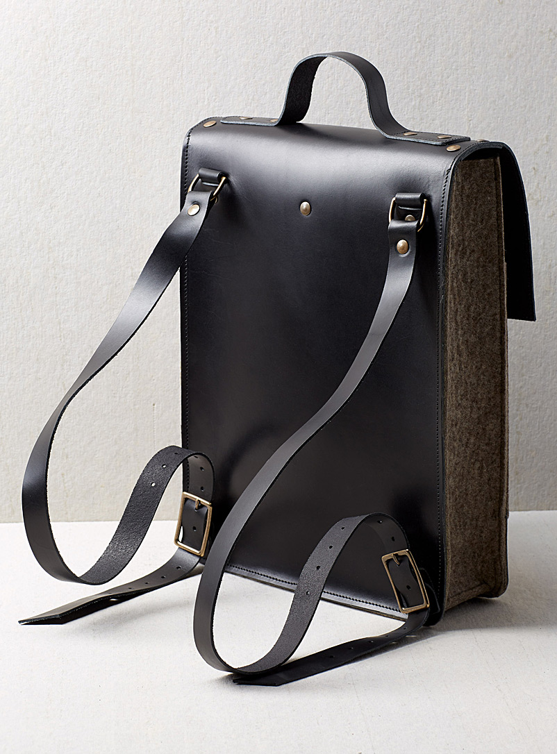 Henri backpack - CANTIN - Black & Taupe