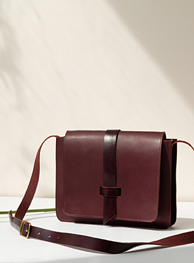 Little Louis burgundy bag