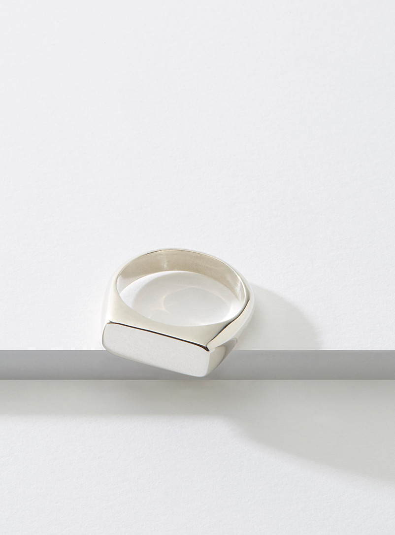 Signet silver ring - Cadette - Silver