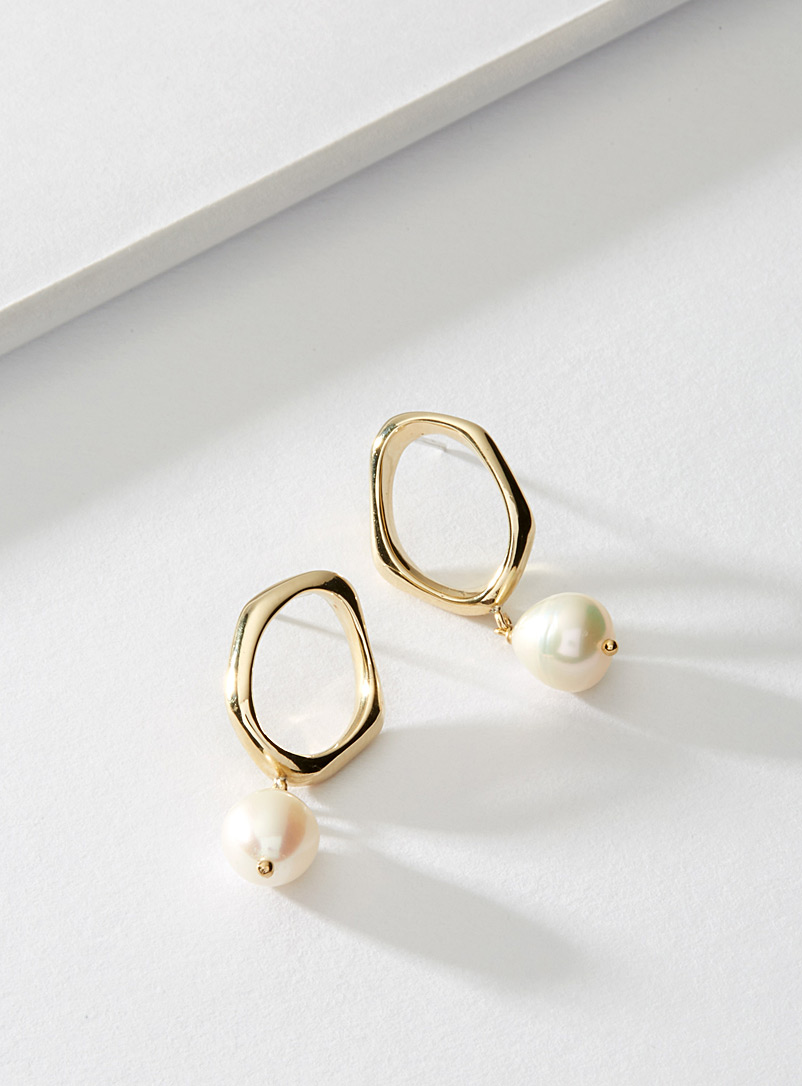 Cadette Golden Yellow Hera brass earrings