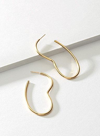 Jean gold earrings