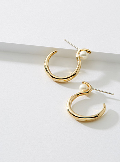 Calypso brass earrings