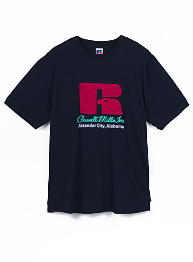 Russell Athletic Marine Blue Terry logo T-shirt for men