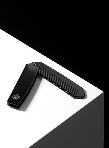 Rituels Black Folding beard and hair comb for men